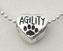I Love Dog Agility Necklace