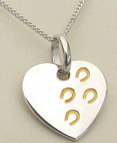 Hoofprints On My Heart Necklace