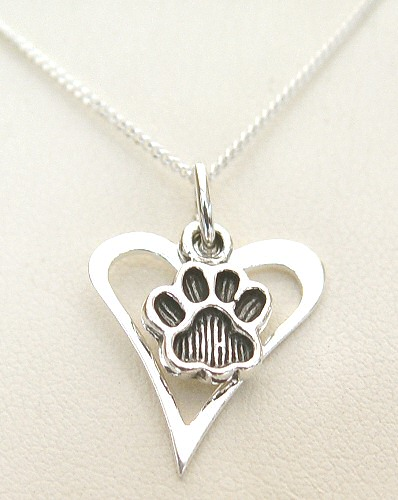 Pawprints In My Heart Necklace