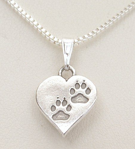 Pawprints On My Heart Necklace