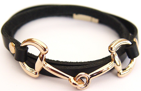 Snaffle Bit Wrap Around Bracelet