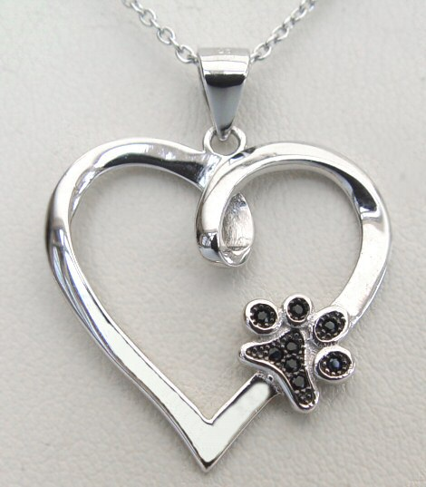 Your Paw Is On My Heart Necklace